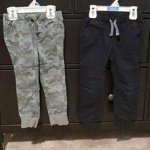 Set Boys 3T Cat & Jack thin jogger Pants